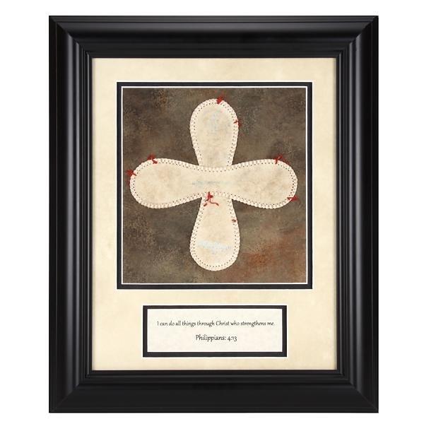 Baseball Cross Philippians:4:73 Custom Frame 12x16