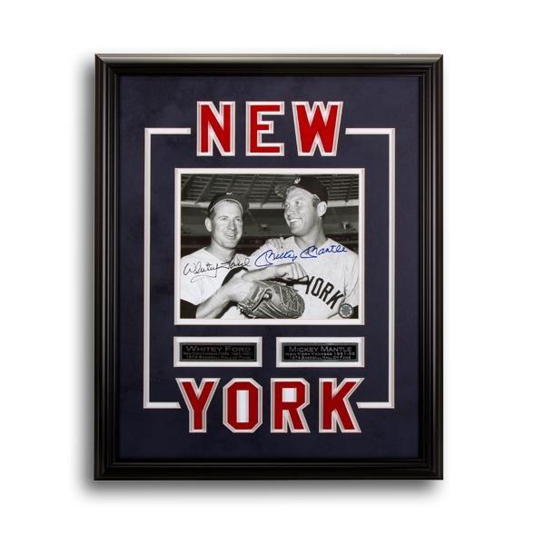 Ford & Mantle New York Yankees Framed 20x16 Signed