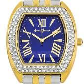 Stylish Pave Crystal Studded Bezel Ladies Watch