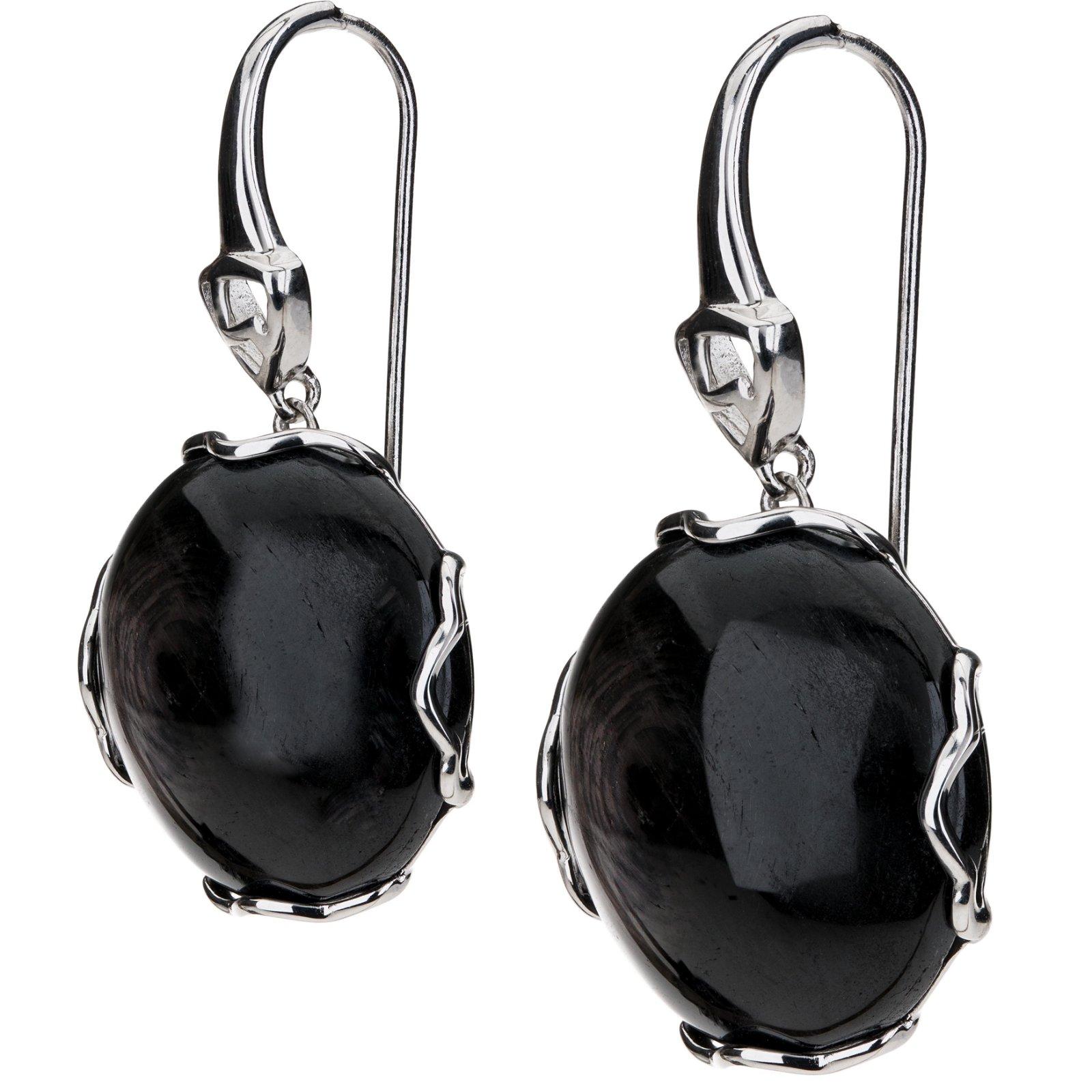 Sterling Silver Hypersthene Drop Earrings