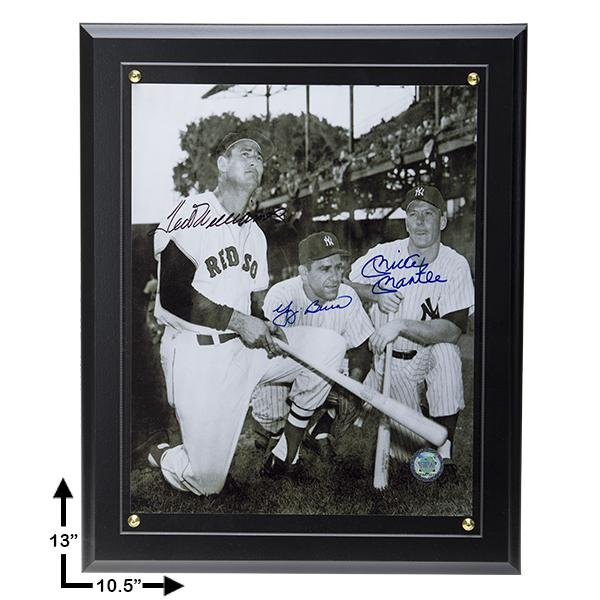 MLB Hall Of Fame Legends Signed 8x10 Plaque