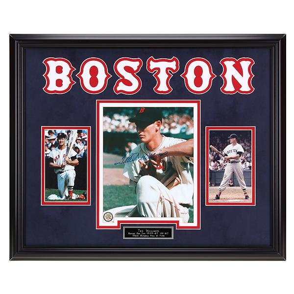 Ted Williams Boston Red Sox 20x16 Signed 8x10v GFA