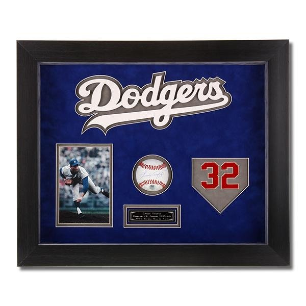 Sandy Koufax Los Angeles Dodgers Signed Shadowbox