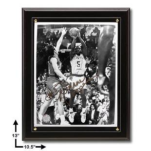 Duane Cooper 105x13 Black Plaque Signed 8x10v GFA
