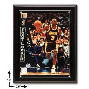 Sedale Threatt Los Angeles Lakers 105x13 Signed 8x10v
