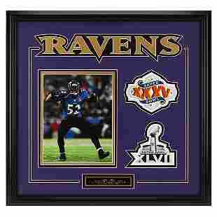 Ray Lewis Baltimore Ravens 20x21 Frame unsigned