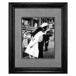 V-J Day Kiss In Time Square Framed