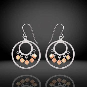 Sterling Silver Crystals Drop Earrings