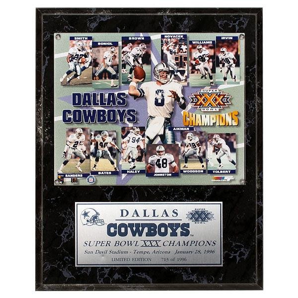 Troy Aikman Dallas Cowboys SuperBowl XXX Champions