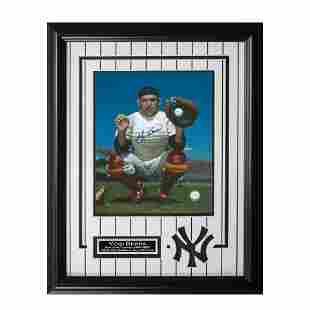 Yogi Berra New York Yankees 20x16 Signed 8x10v GFA