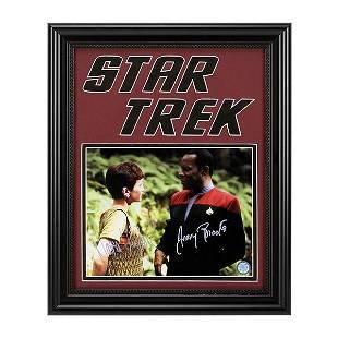 Star Trek Nana Visitor Avery Brooks signed Framed