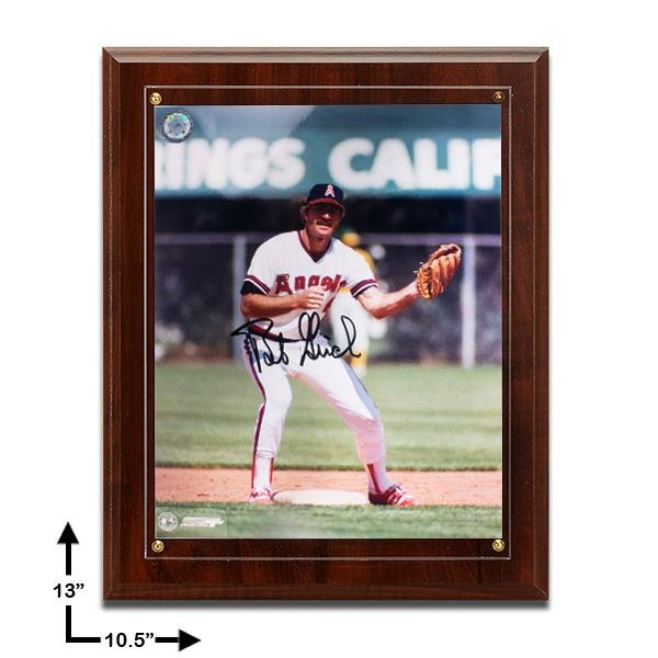 Bobby Grich Los Angeles Angels 10.5x13 Cherry Wood