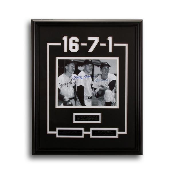 New York Yankee Legends Framed Signed GFA
