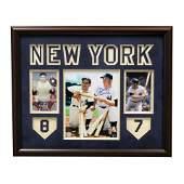 Yogi Berra  Mickey Mantle Yankee Signed Framed