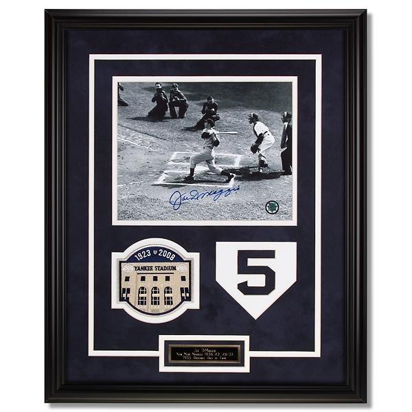 Joe DiMaggio New York Yankees Framed Signed
