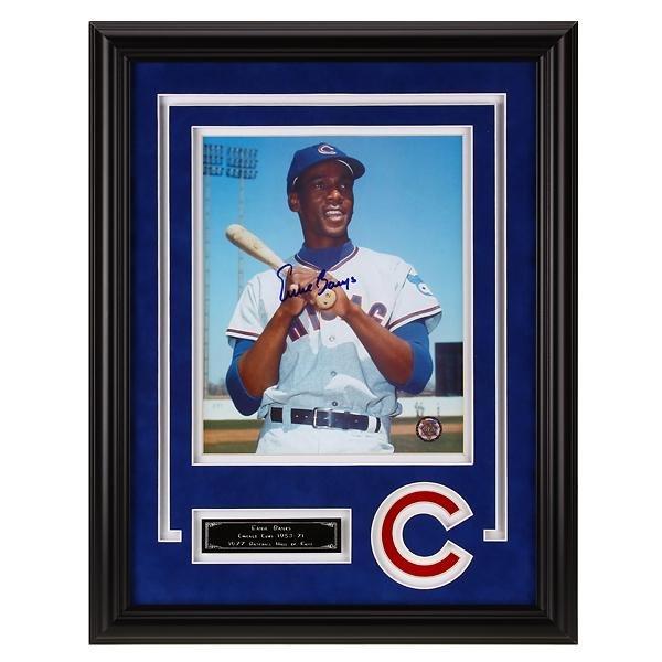 Ernie Banks Chicago Cubs 12x16 Autograph 8x10v GFA
