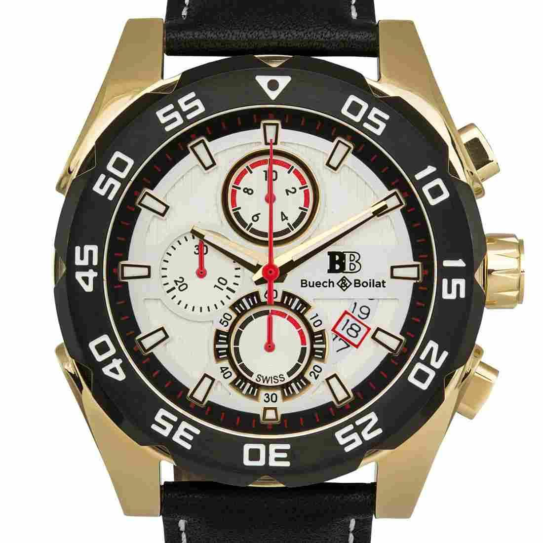 Buech & Boilat Torrent Mens Chronograph 44mm Case Watch