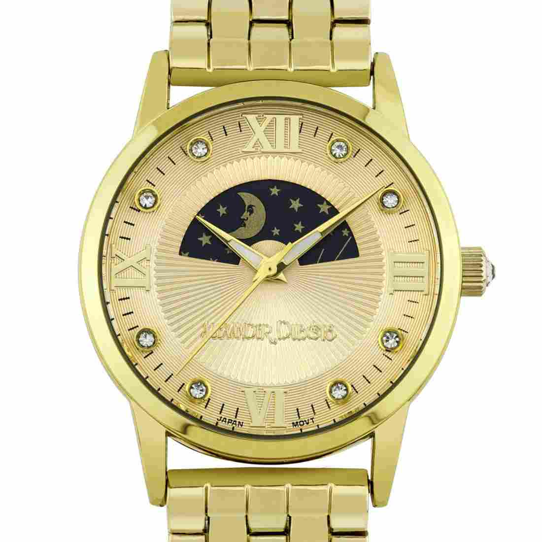 Alexander Dubois Ladies 38mm Case Moon Phase Dial