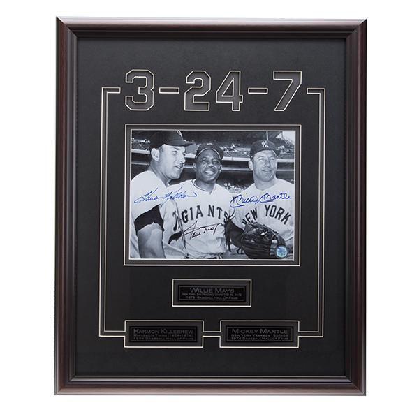 Killebrew-Mays-Mantle Baseball Legends Signed GFA