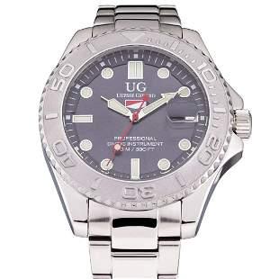Ulysse Girard Men's Rotating Green Bezel Watch