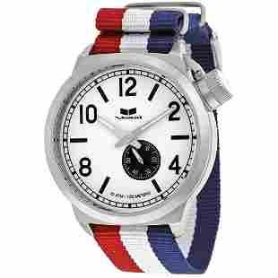 Canteen Zulu White Dial Striped Nylon Strap Men's Watch