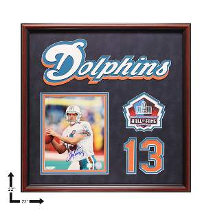 Dan Marino Miami Dophins 22x22 Showcase Signed GFA