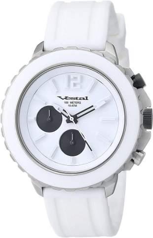 "Vestal Men's ""Yacht"" Watch in White Stainless Steel"