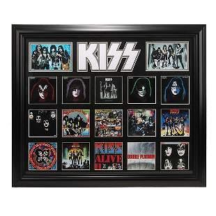 Kiss Album Record Collage 24x20 Custom Framed