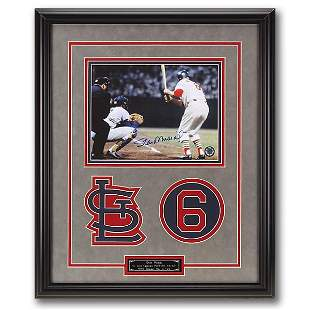 Stan Musial St. Louis Cardinals 20x16 Framed Signed GFA