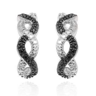 Black&White Half Hoop Earrings