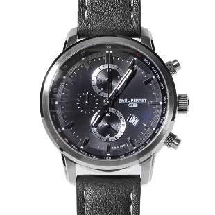 Paul Perret Sorel Men's Swiss Chronograph Watch - Brown