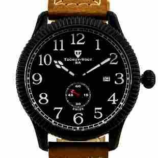 Tschuy-Vogt 45mm Case Men's Military Design Watch