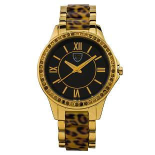 Picard & Cie Casual Leopard Print 38mm Case Watch