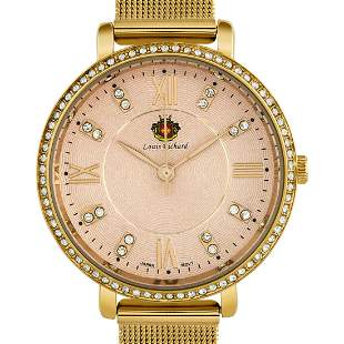 Louis Richard 36mm Case Mesh Band Ladies Watch