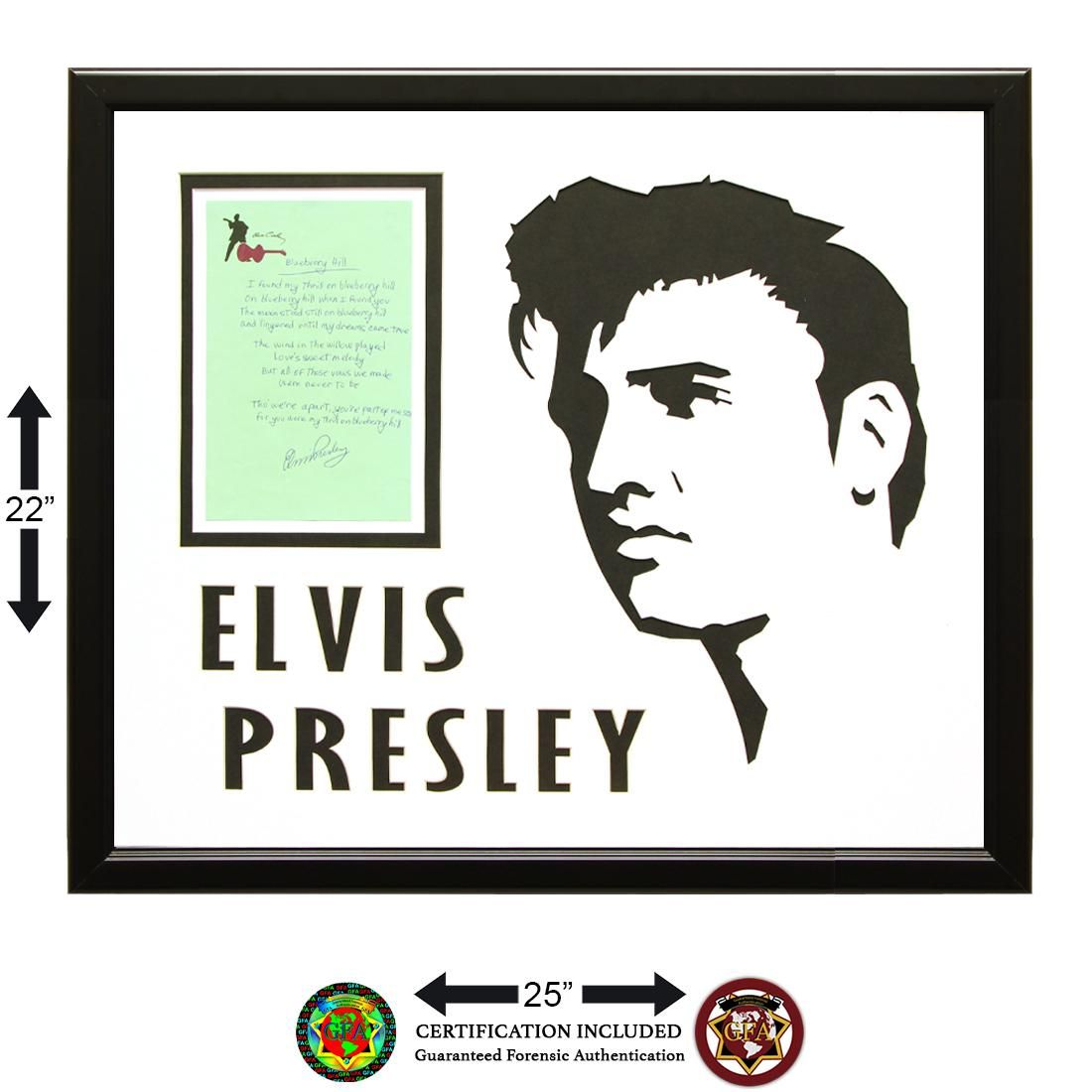 Elvis Presley Signed 5½ x 8½