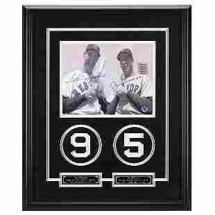 Williams & DiMaggio Baseball Legends Signed GFA