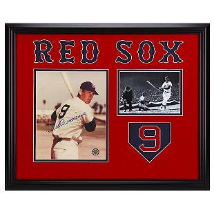 Ted Williams Boston Red Sox Framed 20x16 GFA