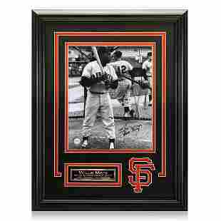 Willie Mays San Francisco Giants Framed Signed GFA