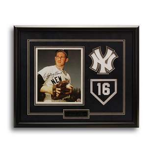 Whitey Ford New York Yankees Framed Signed GFA