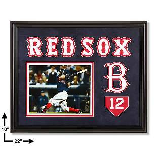 Mike Napoli Boston Red Sox 20x16 Custom Framed