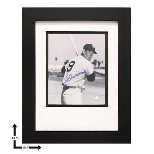 Ted Williams Boston Red Sox Gallery Frame Signed