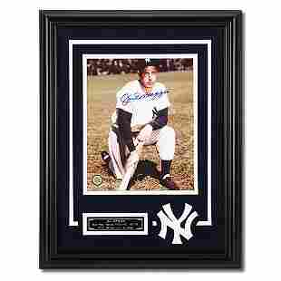 Joe DiMaggio New York Yankees Framed Signed GFA