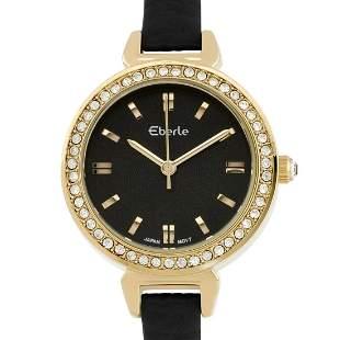 Eberle 29mm Case Crystal Studded Bezel Ladie Watch