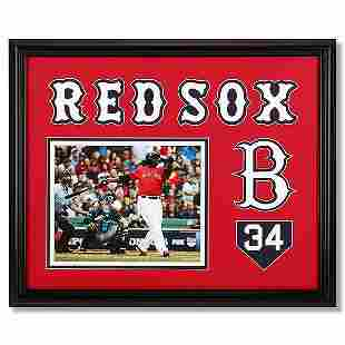 David Ortiz Boston Red Sox 20x16 Frame unsigned