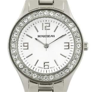 Rousseau 34mm Case Crystal Bezel Ladies Watch