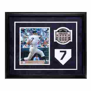 Mickey Mantle New York Yankees Framed Signed GFA