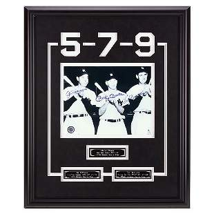 DiMaggio-Mantle-Williams 20x16 Baseball Legends GFA