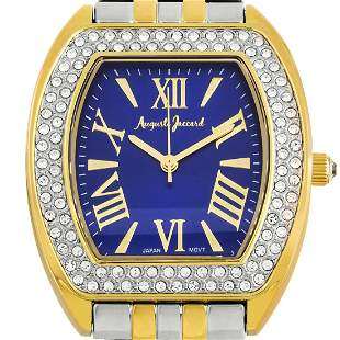 Auguste Jaccard 44mm Case Pave Crystal Bezel Watch