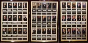 Amazing U.S. President's 45 Piece Signature Display