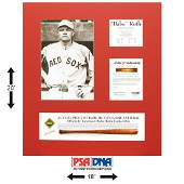 Babe Ruth Red Sox Actual Game Used BatPiece PSA/DNA
